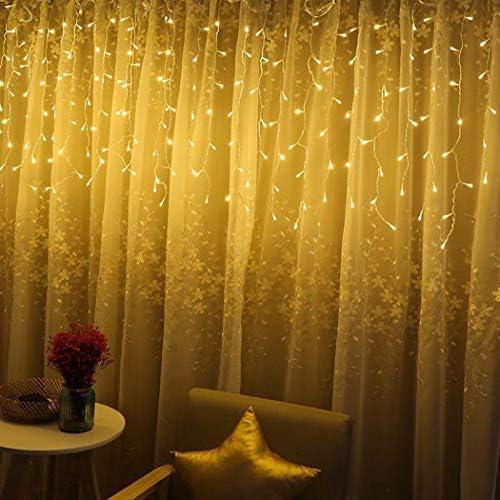 ULTREY 4M/96 LED Fairy Curtain Light String für Schlafzimmer Weihnachten Neujahr Home Lichterketten