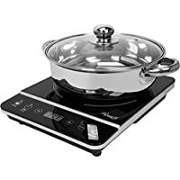 "Rosewill Induction Cooker 1800 Watt, Induction Cooktop, Electric Burner with Stainless Steel Pot 10"" 3.5 QT 18-8, RHAI…"