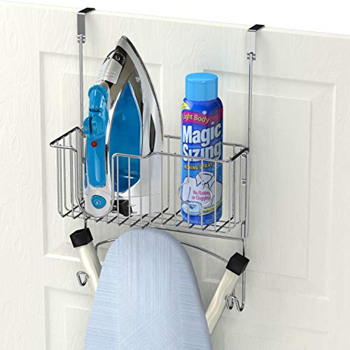 (Simple Houseware Over-The-Door/Wall-Mount Ironing Board Holder)