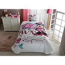 Disney Minnie Mouse Art Girl's Coverlet Set Bedspread Pique Set Single / Twin Size Kids Bedspread/Coverlet