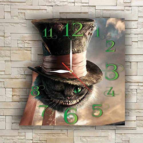 Cats In Costumes Pictures (Alice in Wonderland - Cheshire Cat 11.8'' Handmade Wall Clock - Get unique décor for home or office – Best gift ideas for kids, friends, parents and your soul mates)