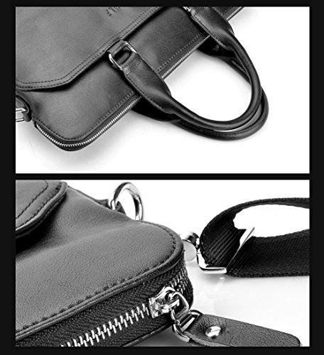 Seron Bolso de Mano Maletin Hombre Lujo Portatil Estilo Design Negro