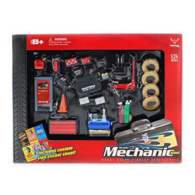 MECHANIC ACCESSORIES SET - HOBBY GEAR G 1/24 SCALE MODEL TRAIN & CAR ACCESSORIES 18415 (japan import) by Phoenix toys: Toys & Games [5Bkhe0505523]