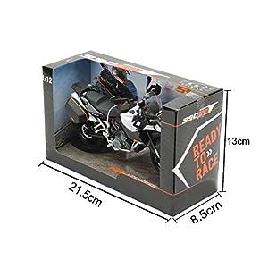 Damara Boy's Cool Race Motorcycle Playset Scale Model Toys Gift,I