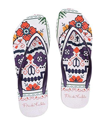 Frida Kahlo Art Printed Flip-Flops Womens Beach Wear Sandals C#64 4BOQQ4