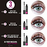 3D Fiber Lash Mascara by Mia Adora - Premium Formula with Highest Quality Natural & Non-Toxic Hypoallergenic Ingredients - FREE Bonus Eyelash ebook with Pro-Tips Included (Black Mascara)