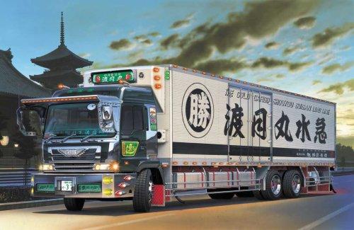 青島文化教材社 1/32 大型デコトラ No.59 丸美グループ 渡月丸水急 ロングシャーシ保冷車の商品画像