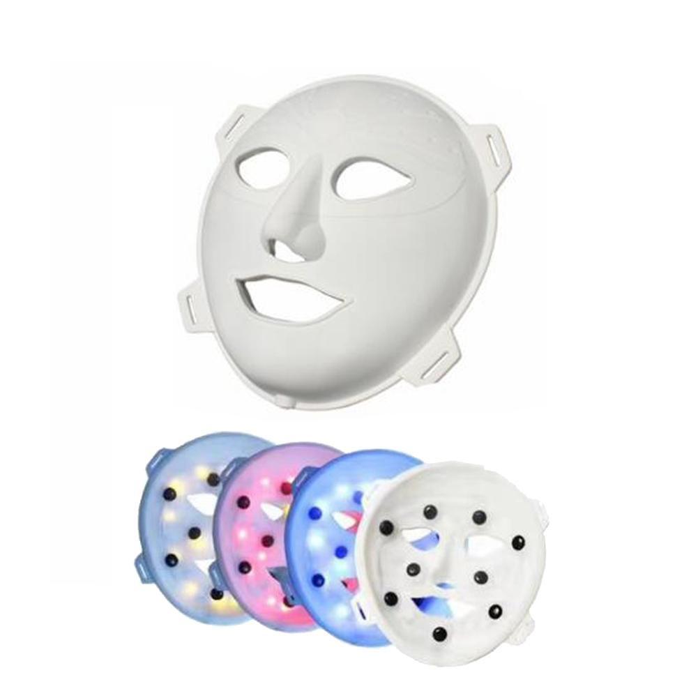 F Led Mask rosso E Blu Giallo Acne Acne Strumento colore Luce Maschera Di Bellezza Fotorejuvenazione Strumento Massaggio Facciale Attrezzatura , bianca