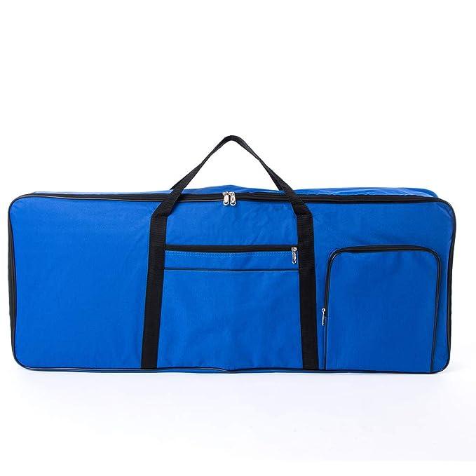QEES 61 Note - Bolsa de piano eléctrico Oxford 600D con funda de algodón de 10 mm, bolsa de gigo, 101,6 x 40,6 x 15,2 cm, color azul: Amazon.es: ...