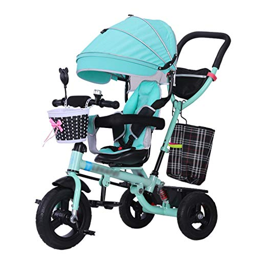 (Quick Fold Baby Stroller Trike Bike Push and Ride Children's Trolley with Brakes and Shock Absorber Kids'Tricycle for 6 Months - 5 Years Old)