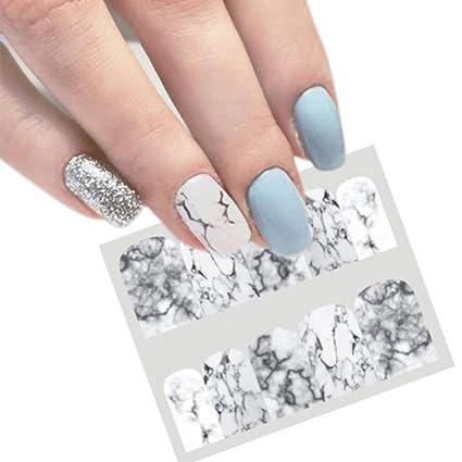Behavetw Nail Art Stickers, marbre Série complète Wrap DIY Nail Art Designs  Autocollant Stickers, Facile d\u0027utilisation, Cadeau idéal pour Femme
