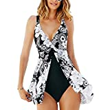 Best ROPALIA One Piece Swimsuits - SYBKNSTW Womens Plus Size One Piece Push Up Review