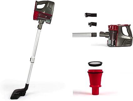 Aspiradora inalámbrica con batería, sin bolsa, soporte de pared, aspirador de mano, color rojo: Amazon.es: Hogar