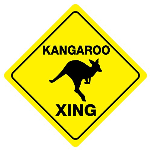 (Kangaroo Funny Novelty Crossing Sign)