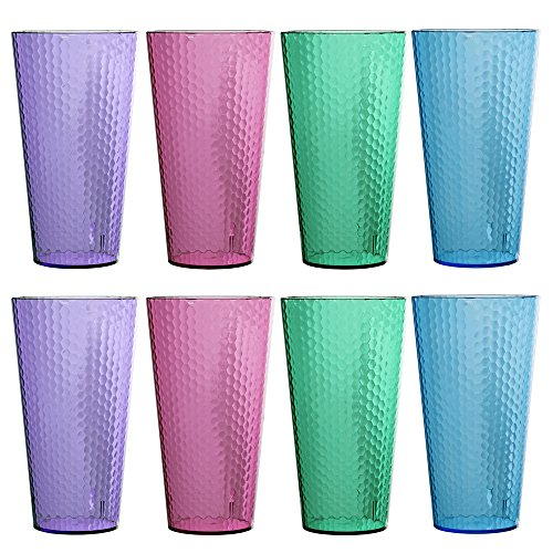 Hampton Premium Quality Plastic 28oz Iced Tea Tumbler | set