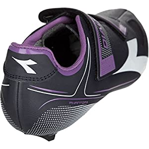 Diadora Phantom II Cycling Shoes - Women's Dk Smoke/White/Violet Orchid Iris, 43.0