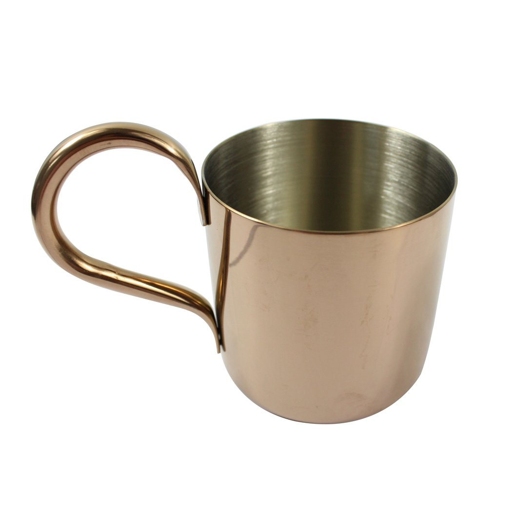 Dianoo Stainless Steel Cocktail Glass Cup, Copper Moscow Mule Mugs, Milk Pitcher, Stainless Steel Milk Cup, Good Grip Frothing Pitcher, 1PCS (300 ML) - Gold worth2buy