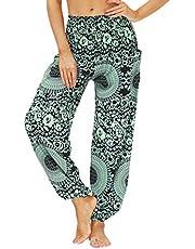 NAQUSHA Losse yogabroek voor dames, casual baggy, harembroek, lounge, fitness, gym, activewear, joggingbroek, sportbroek, zomerbroek