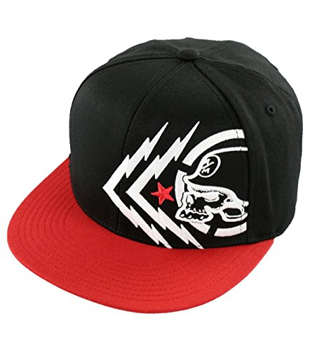 Metal Mulisha Men's Chaos Hat, Black/Red, Large/X-Large