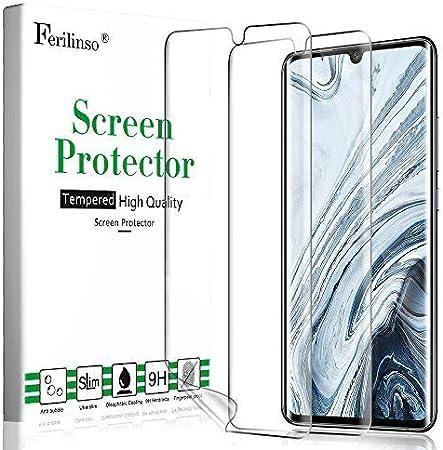 Ferilinso Protector de Pantalla para Xiaomi Mi 10 and Xiaomi Mi 10 Pro 5G Protector de Pantalla, [2 Pack] [Vidrio NO Templado] Protector de Pantalla de Repuesto de Alta sensibilidad Full Coverage 3D