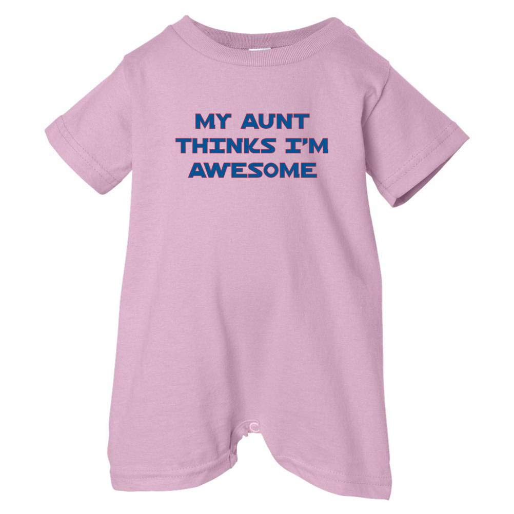 So Relative Pink, 24 Months Unisex Baby My Aunt Thinks Im Awesome T-Shirt Romper