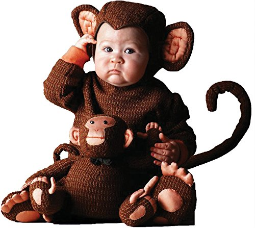 [UHC Tom Arma Cheeky Little Monkey Outfit Toddler Kids Halloween Costume, 4T-5T] (Monkey Outfits For Toddlers)