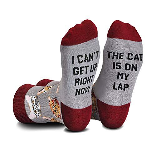 Cavertin Women's Novelty Socks with Gift Box (Cat Lover)