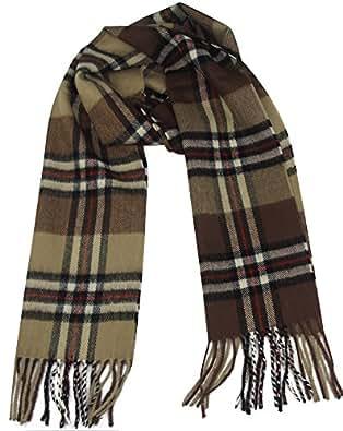 MINAKOLIFE Classic Cashmere Feel Winter Scarf in Rich Plaids