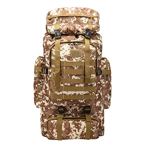 SOthread bags Large Capacity 80L Backpack Camouflage Outdoor Bag Travel Mountaineering Bag Gift for High School Student