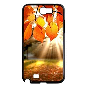 Custom Cover Case with Hard Shell Protection for Samsung Galaxy Note 2 N7100 case with Fallen leaves lxa#965761