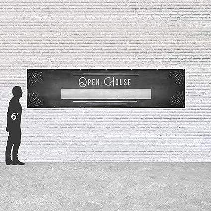 16x4 Chalk Corner Heavy-Duty Outdoor Vinyl Banner CGSignLab Open House