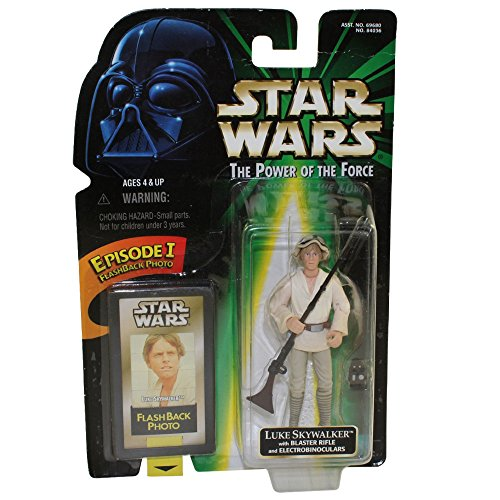 Star Wars, The Power of the Force Flashback Photo, Luke Skywalker Action Figure, 3.75 Inches