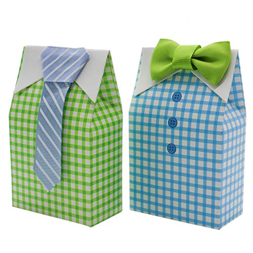 Buorsa 30 Pcs Bow Tie Ribbon Paper Candy