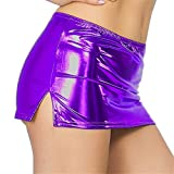 Sport Bra for Women,Women Sexy Leather Underwear Lingerie Patent Leather Night Skirt Sexy,Women's Activewear,Purple,One Size