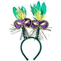 Máscara de carnaval con plumas Boppers