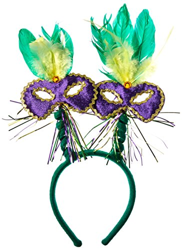 Mardi Gras Mask w/Feathers -