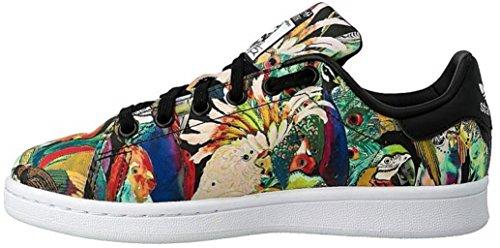 adidas Originals Women's Stan Smith Limited Edition High Fashion Sneaker,Brazilian Farm/Running White, (7 B(M) US, Brazilian Farm/Running White)