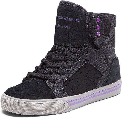 Supra Unisex Sneakers KIDS SKYTOP Black/Purple-Grey S13015K