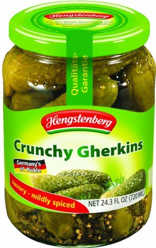 Hengstenberg Pickles, Crunchy, 24.3 Ounce (Pack of 12) by Hengstenberg
