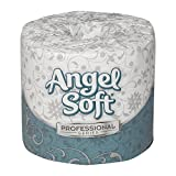 """Georgia-Pacific Angel Soft Professional Series 16840 White 2-Ply Premium Embossed Bathroom Tissue, 4.050"""" Length x 4.00"""" Width (Case of 40 Rolls, 450 Sheets Per Roll)"""