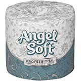 "Georgia-Pacific Angel Soft Professional Series 16840 White 2-Ply Premium Embossed Bathroom Tissue, (WxL) 4.000"" x 4.050"" (Case of 40 Rolls, 450 Sheets per Roll)"