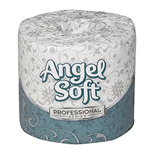 """Georgia-Pacific Angel Soft Professional Series 16620 White 2-Ply Premium Embossed Toilet Paper, Bathroom Tissue, 4"""" Width x 4.05"""" Length (20 Rolls of 450 Sheets)"""
