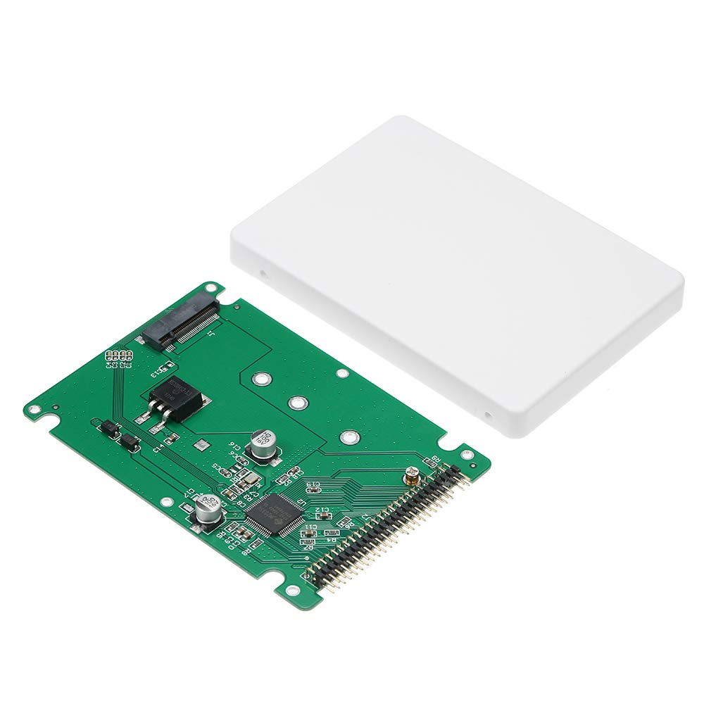 Black M.2 NGFF SATA SSD to 2.5 IDE 44pin Converter Adapter with Case Walmeck