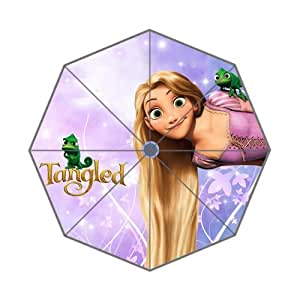 Classic Cartoon Movie&Tangled Background Triple Folding Umbrella!43.5 inch Wide!Perfect as Gift!