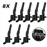 98 ford coil pack - Carrep Ignition Spark Plug Coil Coils (8) for Ford Crown Lincoln Mercury 5.4L 6.8L V8 DG508 FD503 Coil Pack(dg508, Black)