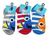 Disney Pixar's Finding Dory Mixed Little Kid's Sock Set (Sock Size 4-6, 3 Pairs)