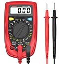 Etekcity MSR-R500 Digital Multimeters, Electronic Amp Volt Ohm Voltage Meter Multimeter with Diode and Continuity Test Tester, Backlight LCD Display (Red)
