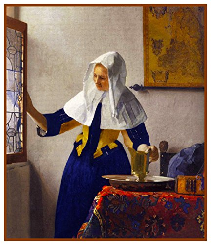 Jug Dutch (Orenco Originals Young Woman a Water Jug Johannes Vermeer Counted Cross Stitch Pattern)