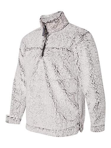 boxercraft Adult Super Soft 1/4 Zip Sherpa Pullover-Smoky - Fleece Zip Quarter Pullover