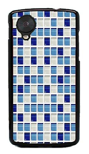 Mosaic Check Pattern Hard Case for Google Nexus 5 LG ( Flower Flowering Rose )